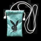 PLAYBOY BUNNY MOBILE PHONE BAG PURSE BLACK ON SILVER