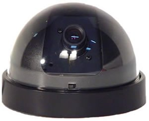 Mini Dome Camera/Black & White� DC-222WC Wired Camera with Plug & Play