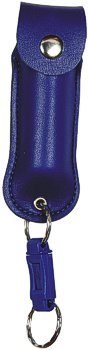 PS-1BLU :PEPPER SHOT PEPPER SPRAY/1/2 oz w/Leatherette Holster and Quick Key Release Key Chain