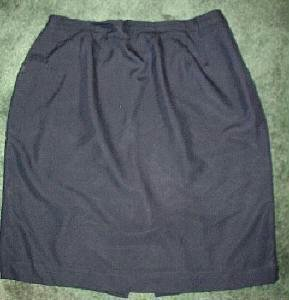Jacqueline Ferrare Dark Blue 3 Season Skirt Plus Sz 20w Exc Cond