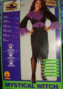 Witch Costume for Halloween - Girls Sz Small 4-6 Brand New by Rubies Halloween Concepts