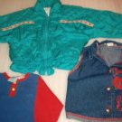 Little Girls Weather Tamer Jacket and CA Angel Denim Vest Shirt Sz 5 / 6