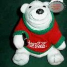 Coca-Cola Coke Beanie Bag Bear With Winter Sweater 0116