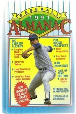 1991 Baseball Almanac ~ Gallery Books Hardcover 0831706708