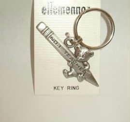 Number 1 Teacher Key Ring by Jonette Jewelry Signed J J Brand New