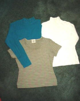 Three Tops Ladies Size Small Petite : B Moss, Cabin Creek, Worthington