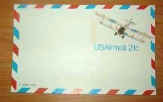 Usps 21 Cent Airmail Postcard ~ 1978 ~ Mint ~ Unused