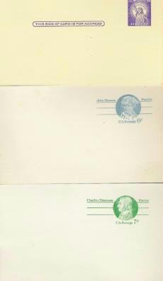 Usps 3, 6, and 7 Cent Post Card Lot (3) in vgc Unused 1970s Several Available