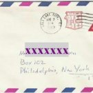 Usps 8 cent plus 2 cent Pre stamped 1969 Airmail Envelope Canceled