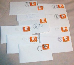 Lot of 30 Canceled ~ A ~ Usps Postage Envelopes Postmarks Upstate N Y