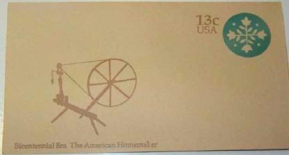 USPS 13 cent Bicentennial Era American Homemaker Envelope