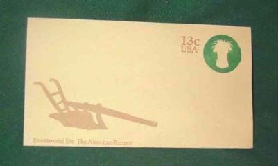 Usps 13 cent American Farmer Bicentennial Era Pre Stamped Envelope