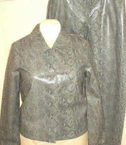 Victoria Moon Faux Snake Jacket and Pants Outfit Ladies Sz 6 ~ New ~