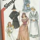 Uncut Simplicity Pattern Number 5741 Misses Girls Costumes Sz Medium