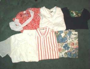 6 Brand Name Mixed Summer Shirt Lot Ladies Sz Med - Gr8 Cond