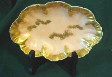 Limoges Candy ~ Nut Dish Signed - Pink and Gold Vintage Pristine France
