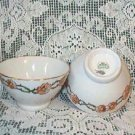 Lot of 3 Chinese Rice Soup Bowls ~ Elegant Cherry Blossom Flower Motif Mint