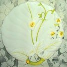 Lily Pattern Shell SHAPED Plate~Serving Dish Handpainted in Italy - Exc