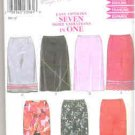 Simplicity New Look Pattern 6919 Size A 6-16, Seven Skirts