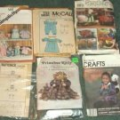 Lot of 6 Craft Patterns McCalls Simplicity Primrose Butterick