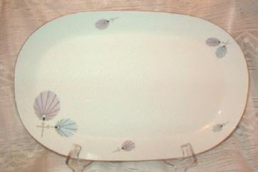 Vntg Bavaria Eberthal W Germany 15 inch Serving Platter Flower Pattern Rare Exc