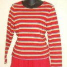 Liz Claiborne Crazy Horse Long Sleeve Top Ladies Size Small ~ As New