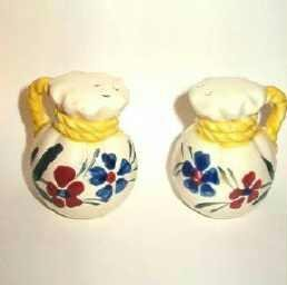 Marked Japan Hand Painted Floral Salt and Pepper Shakers Vintage  ~ Unique