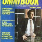 Crochet World Omni Book Magazine in New Cond Access for Men, Dolls, Valentines Day Spring 1981