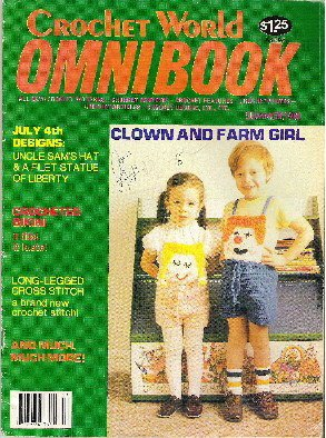 Crochet World Omni Book Magazine Bikini, Bear, New Crochet Stitch + Summer 1981