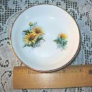 Rosina English Bone China Vintage Bowl-Trinket Dish Featuring Black Eyed Susans