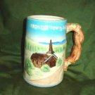 Frontier Town NY Souvenir Stein Mug 19th Century Village Scene 1957 Nov Co Japan