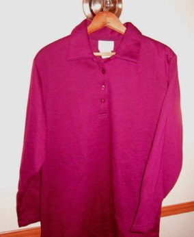 Only Necessities long Sleeve Polo Shirt Ladies Mens Unisex Size Medium / Large
