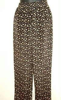 Dani Max Dress Pants Floral Print on Black Size 4 ~ As New