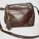 Tignanello Purse Pocketbook Bag with Tassel Closure Brown Leather Excellent Condition 1980s Vintage