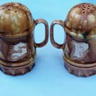 Large Retro Marked H C  Salt Pepper Shakers Handpainted and Signed