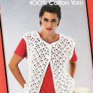 Sugar n Cream Ladies Vest Crochet Pattern by Lily Leaflet 217