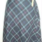 A M I ami A-Line Plaid Skirt ~ Ladies Size 10 New W Tag
