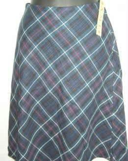 A M I ami A-Line Plaid Skirt ~ Ladies Size 10 New W Tag