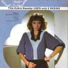 Phentex Ladies Kobra Pullover Sweater knitting Pattern Sz Sm and Lg 1983