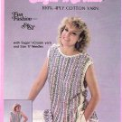 Lily Sugar n Cream Reversible Vest Pattern Leaflet 218 Ladies Small Medium Large