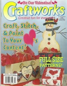 Craftworks Valentine and Christmas Magazine Cross Stitch Crafts Heart Basket, Pajama Set