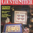 Country Stitch Cross Stitch Magazine Quilts Afghans Santa - Oxmoor House