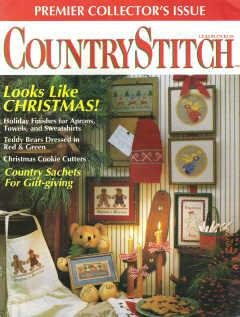 Country Stitch Premier Collectors Issue 1990 Holiday Angel, Welcome Sign Plus