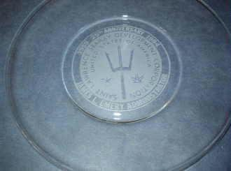 St Lawrence Seaway 25th Anniversary Glass Collectors Plate 1959-1984 Mint