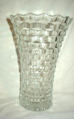 Homco Indiana Whitehall Cubist Pattern Vase Home Interiors Vintage Excellent Condition