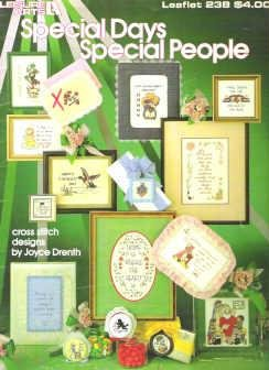 Leisure Arts Magazine Leaflet 238 Special Days Special People Cross Stitch