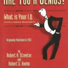 Are You A Genius - What is Your I Q by Streeter 1894572599