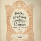 Danzas Espanolas Piano Sheet Music Granados Antique