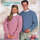 Red Heart Cable Sweater Patterns to Knit Coats Clark Lw1192 Sz Xsm - Xlg