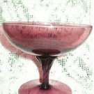 Amethyst Purple Margarita or Tea Lite Glass with Twisted Stem